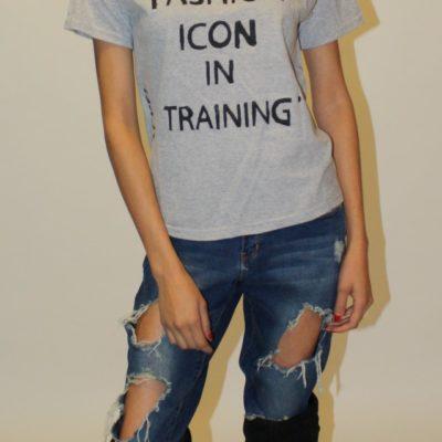 Fashion Icon In Training: XL Tee